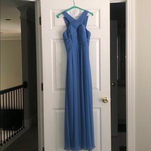 Blue bridesmaid dress, size 2